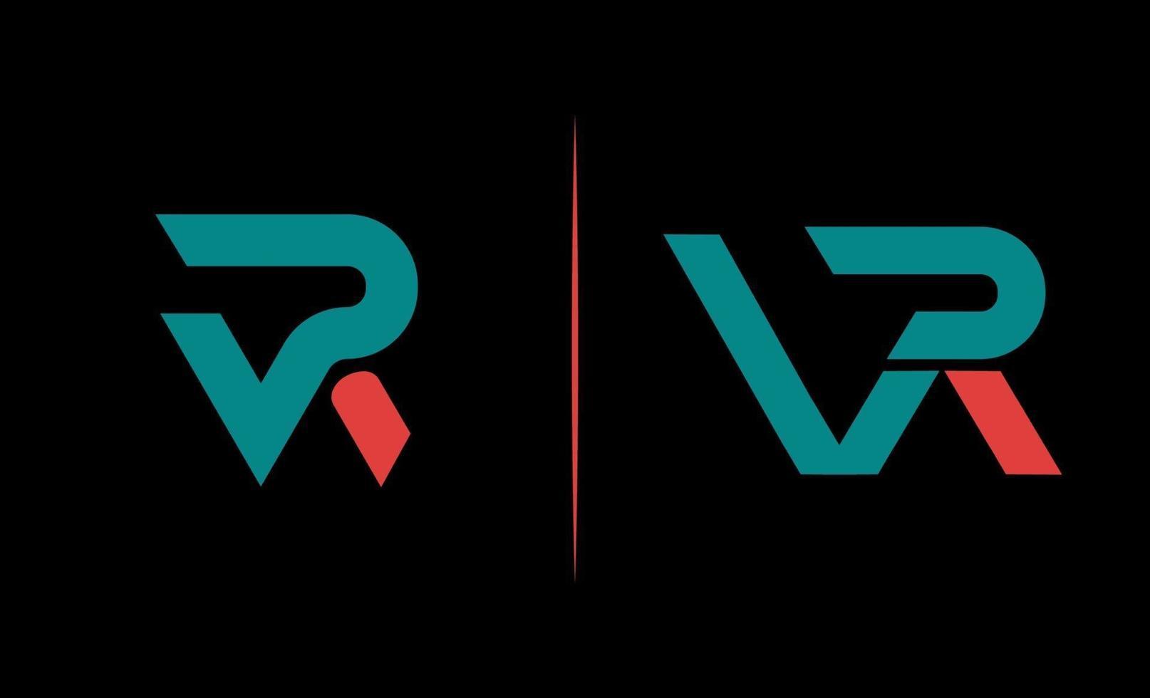första vr monogram kreativ logotyp designmall vektor