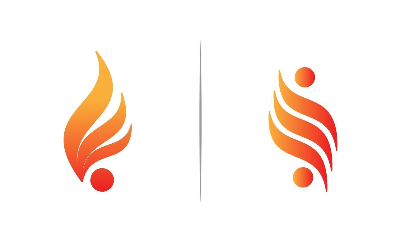 brand flamma logo design mall vektor