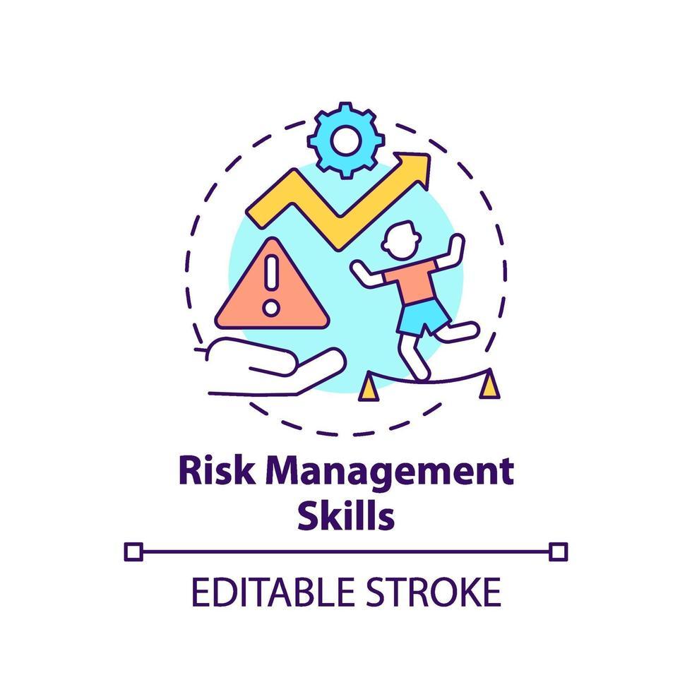 Symbol für Risikomanagementfähigkeiten vektor