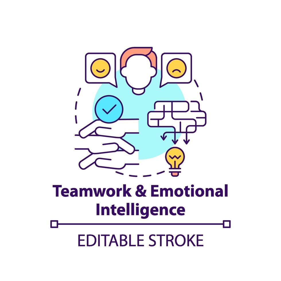 lagarbete och emotionell intelligens koncept ikon vektor