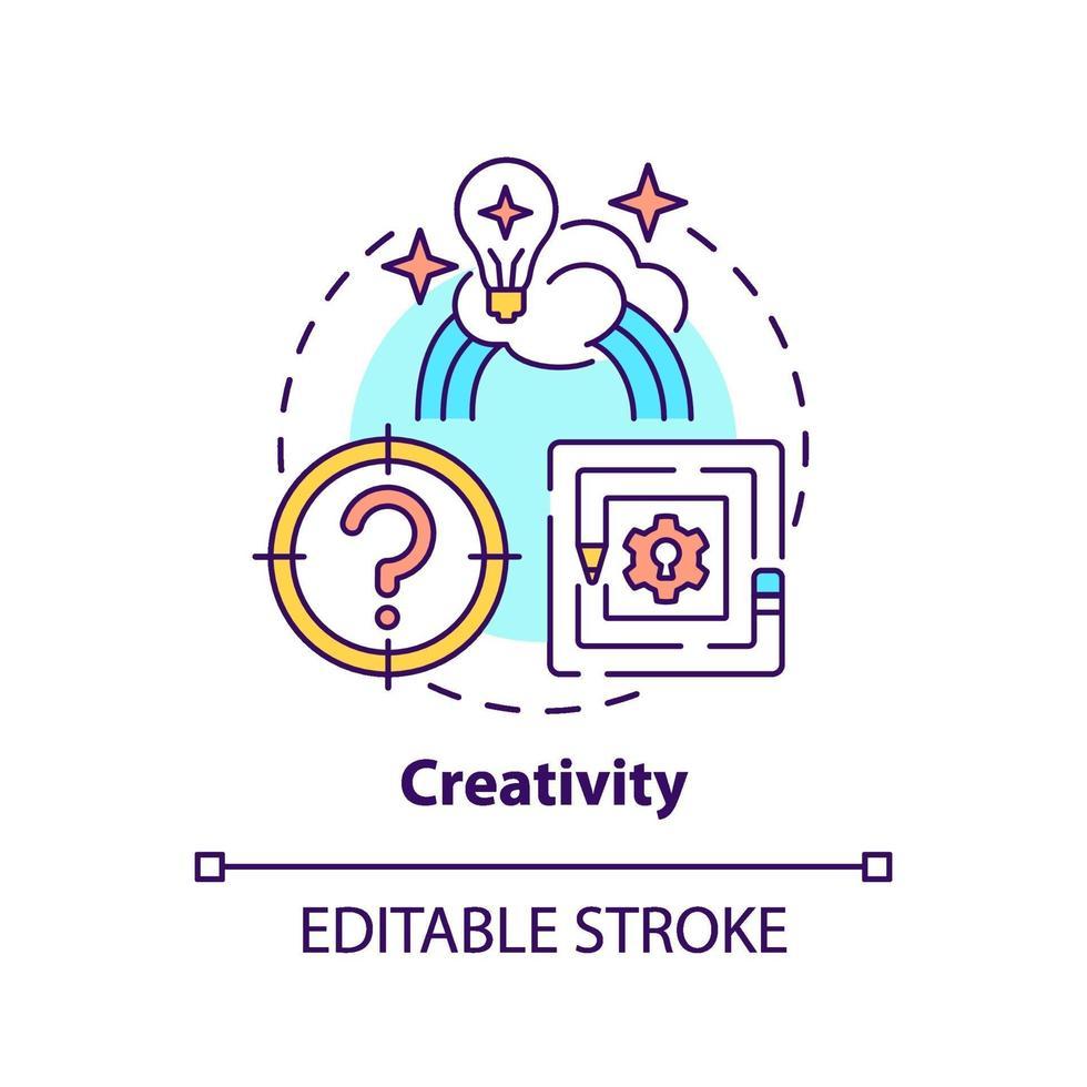 kreativitet koncept ikon vektor