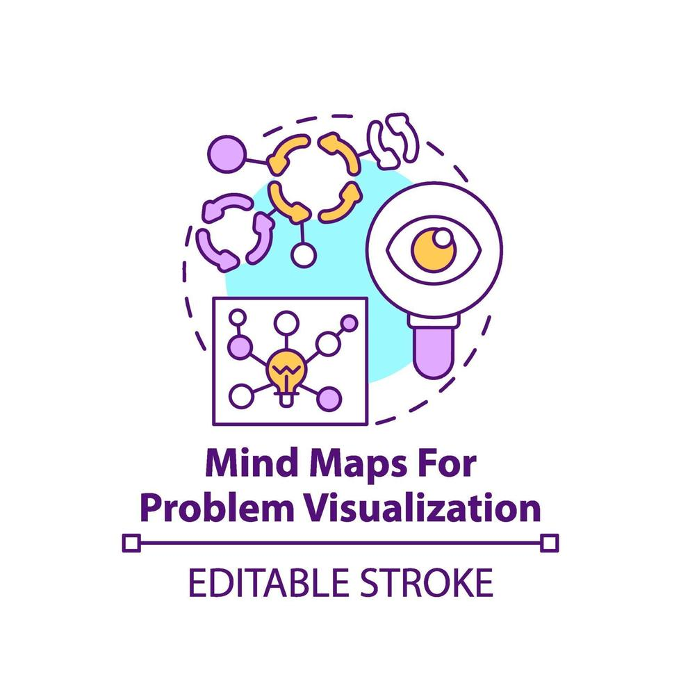 Mind Maps für das Problemvisualisierungskonzeptsymbol vektor