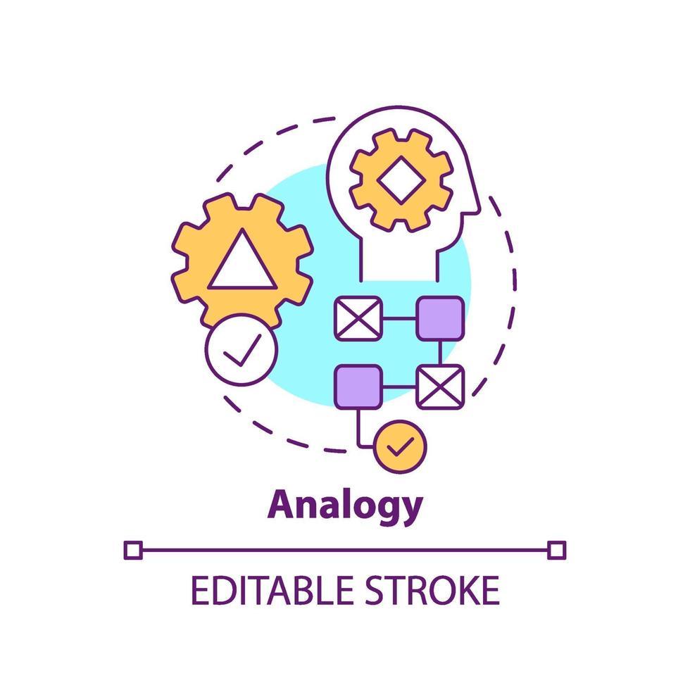 Analogie-Konzept-Symbol vektor