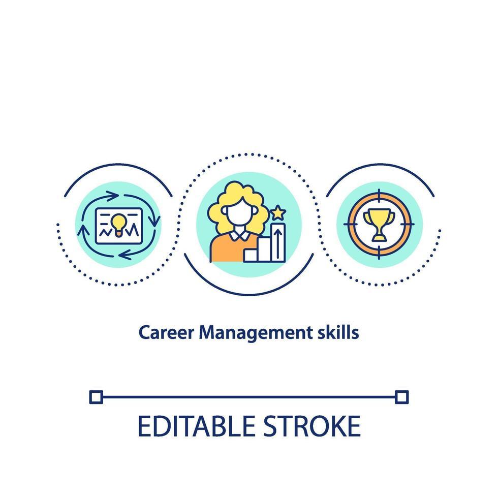 Karriere-Management-Fähigkeiten-Konzept-Symbol vektor