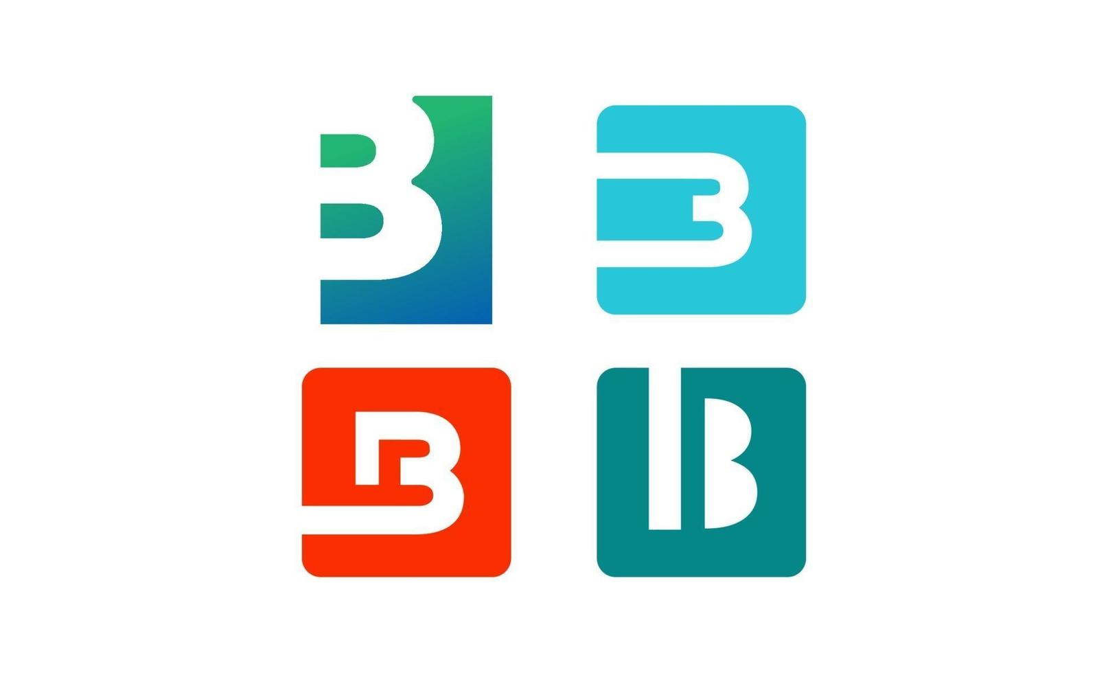 initial b monogram kreativ logo design mall vektor