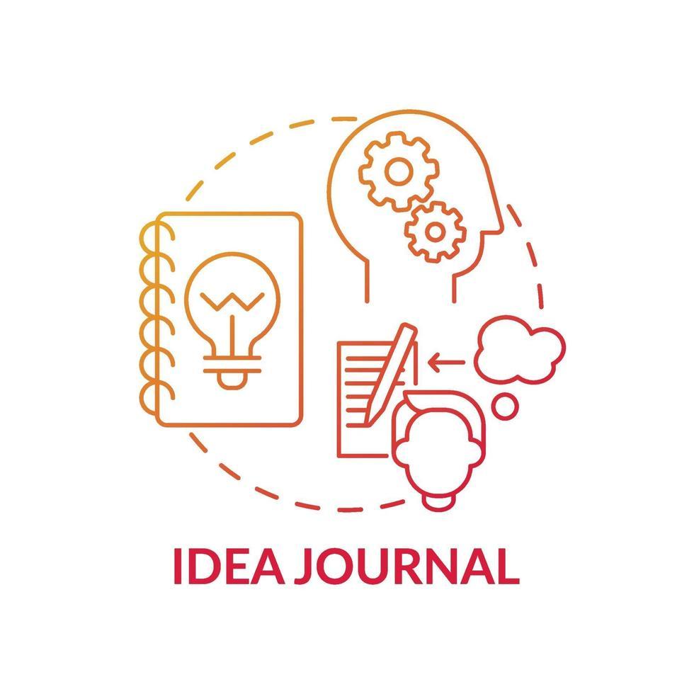 idé journal röd tonad koncept ikon vektor