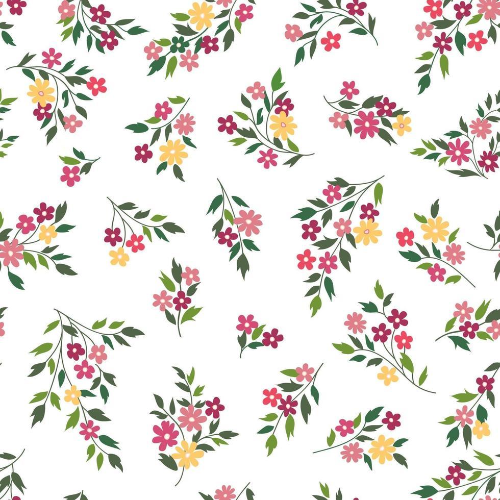sömlös blommönster. blomma bakgrund vektor