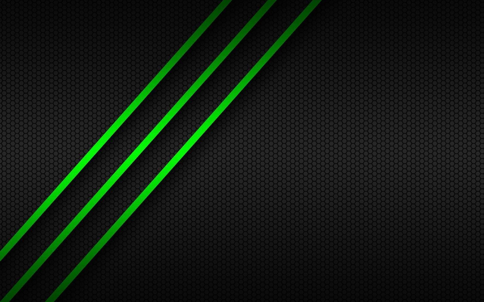 abstakt bakgrund med gröna linjer på överlappande lager och månghörnigt mönster. mall för din banner och presentation. modern vektorillustration vektor