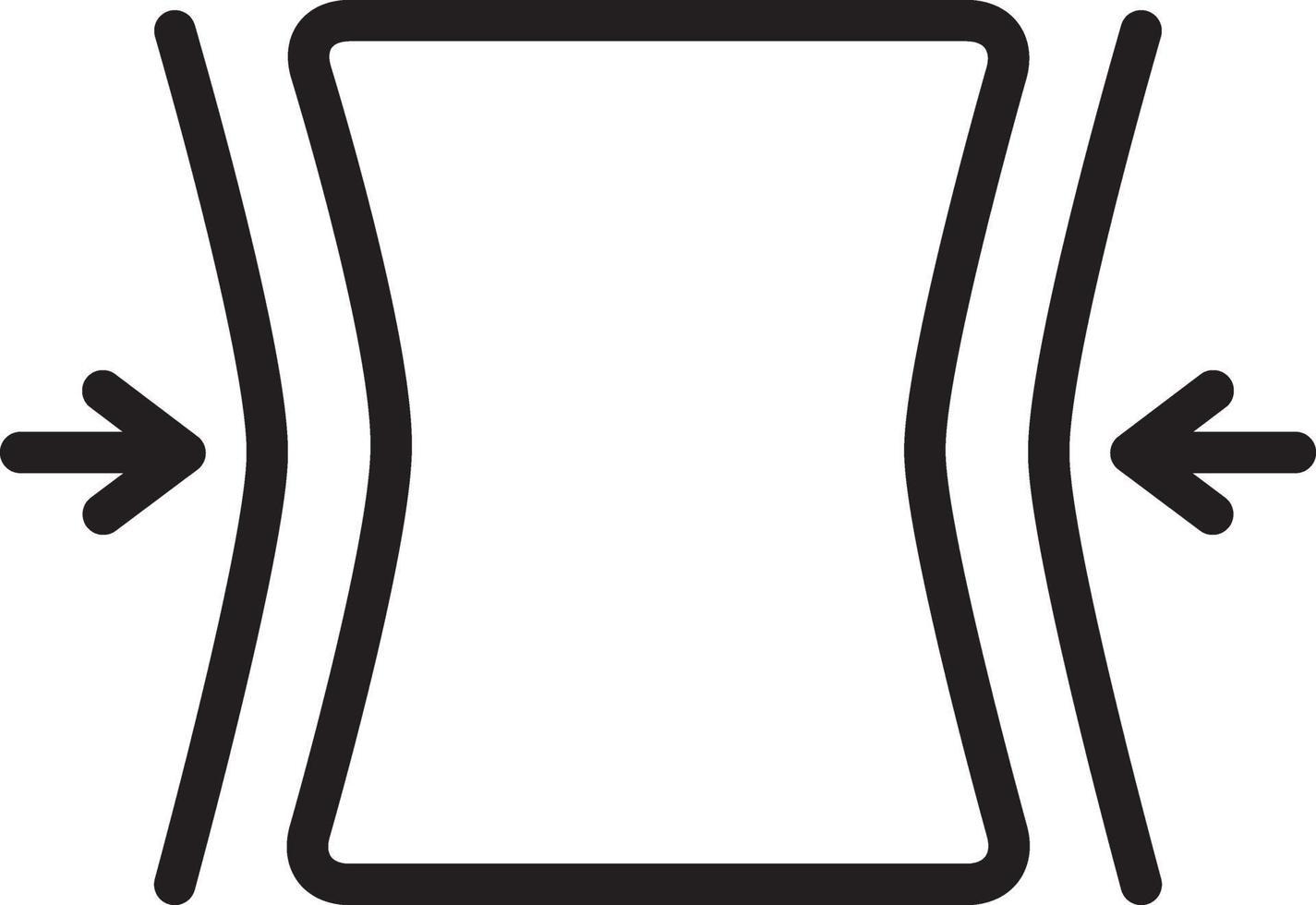 linjeikon för passningar vektor