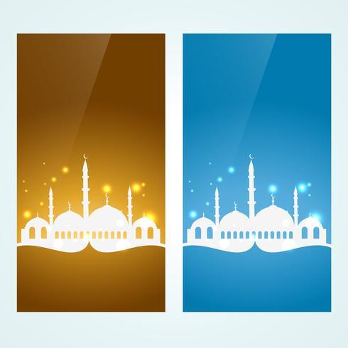 muslimischer Hintergrund eingestellt vektor