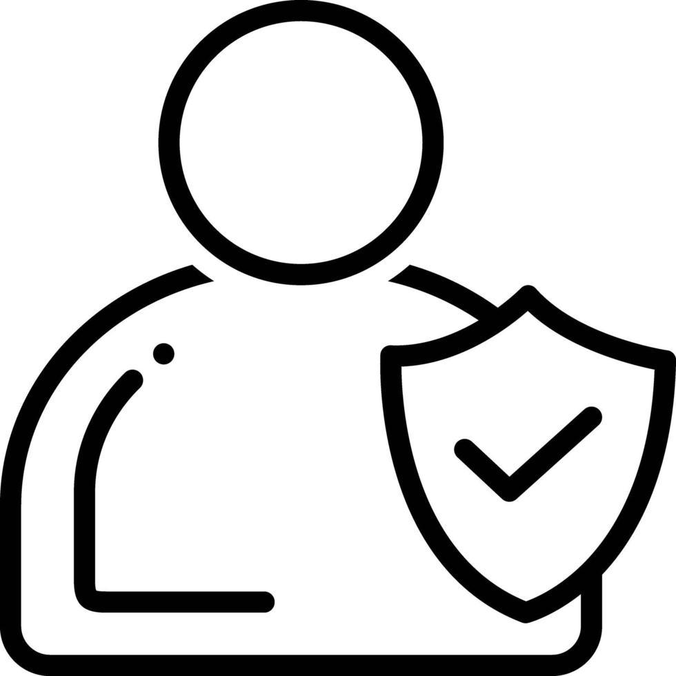 Liniensymbol für Integrität vektor