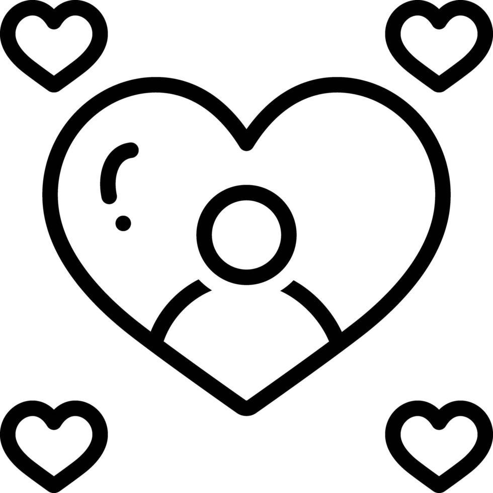 Zeilensymbol für süß vektor