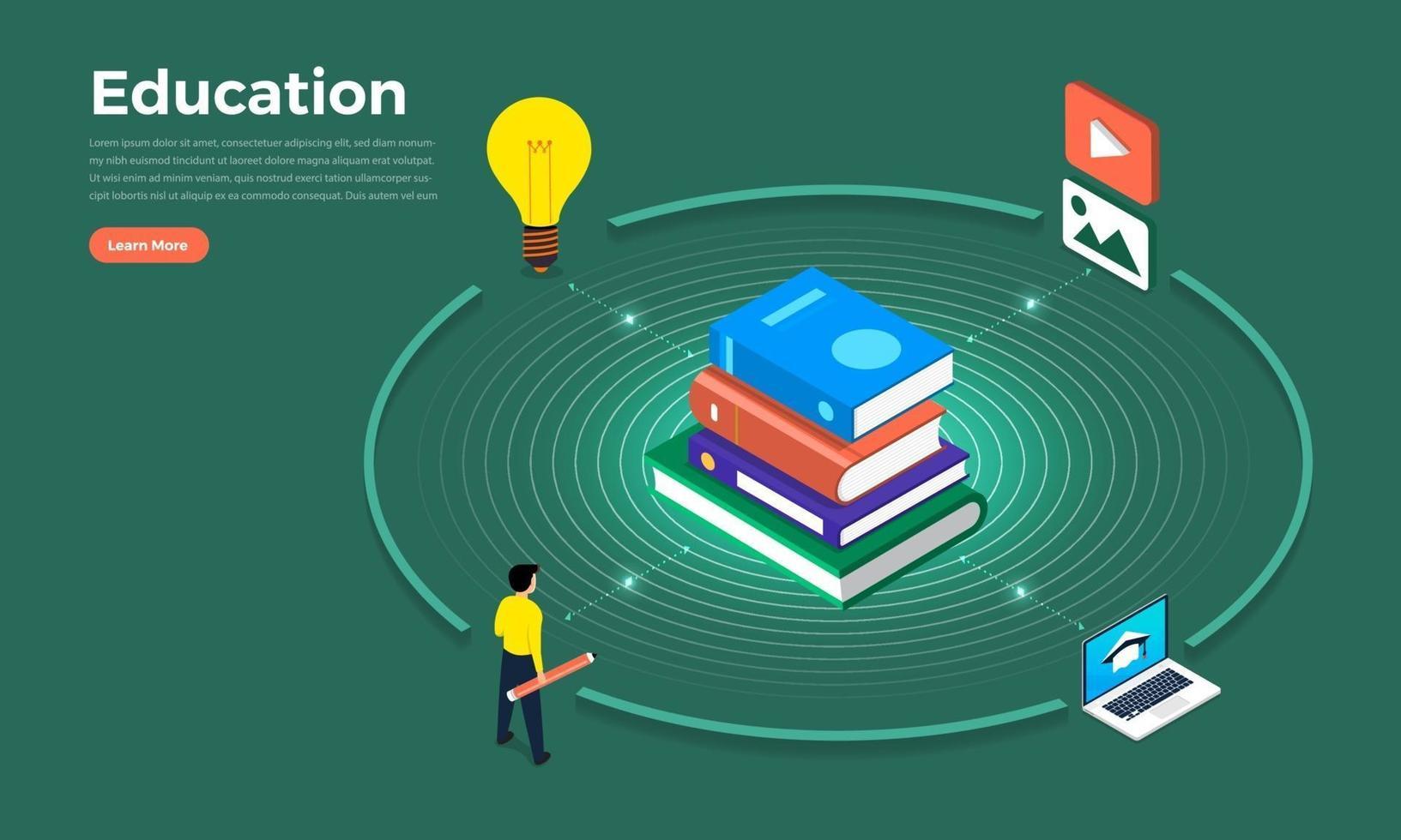 illustrationer för utbildningskoncept vektor
