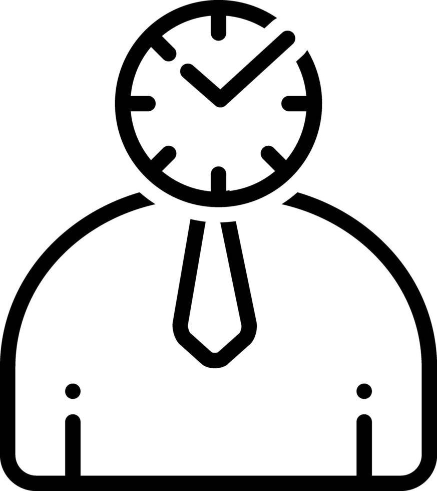 linje ikon för punktlig vektor