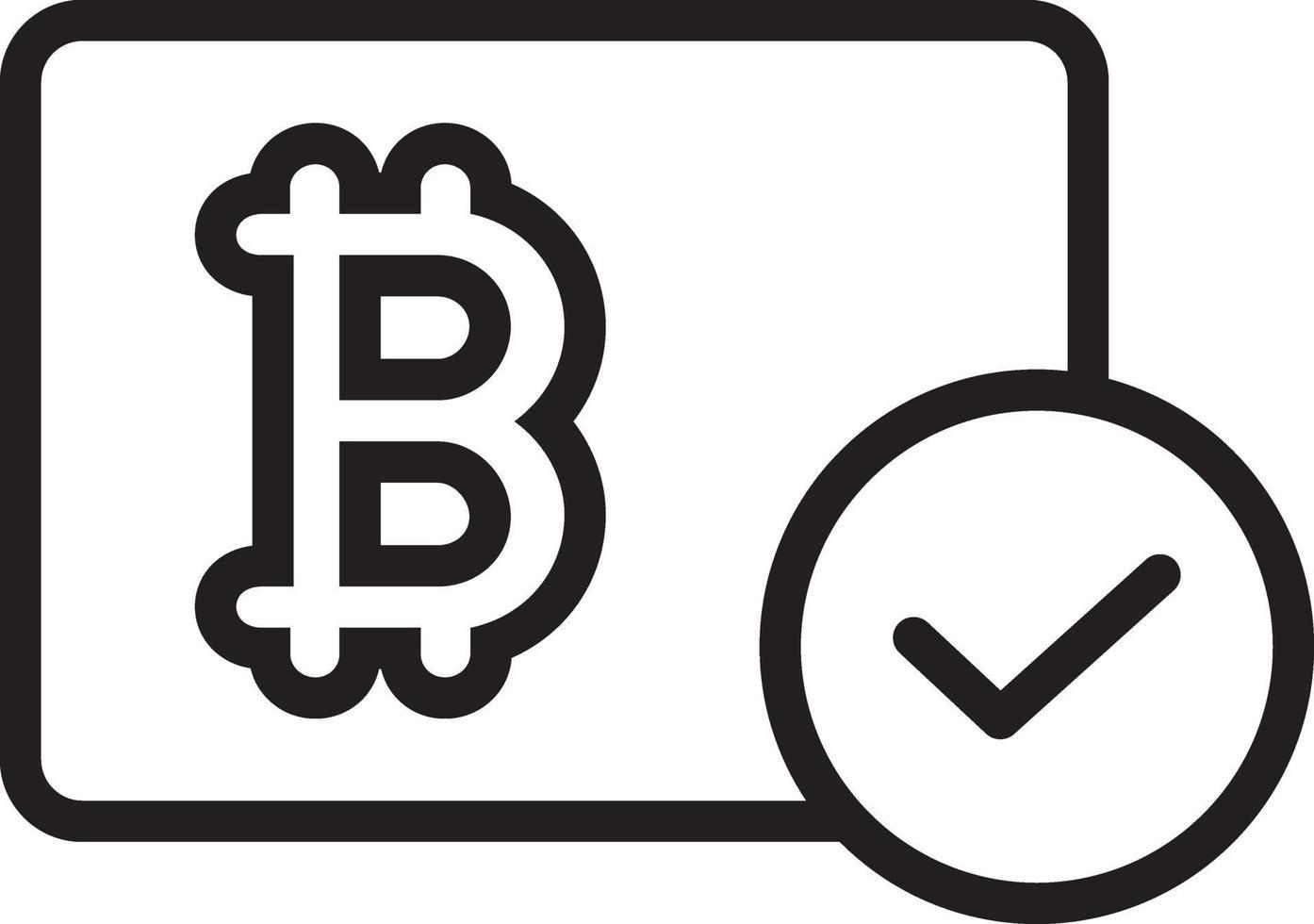 Zeilensymbol für Bitcoin vektor