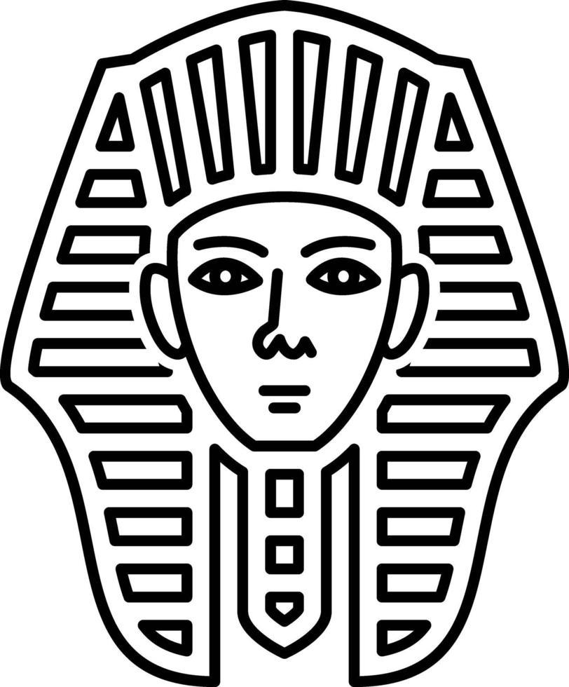 linje ikon för egyptiska vektor