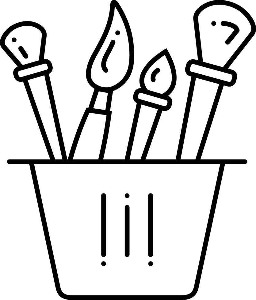 linje ikon för penslar vektor