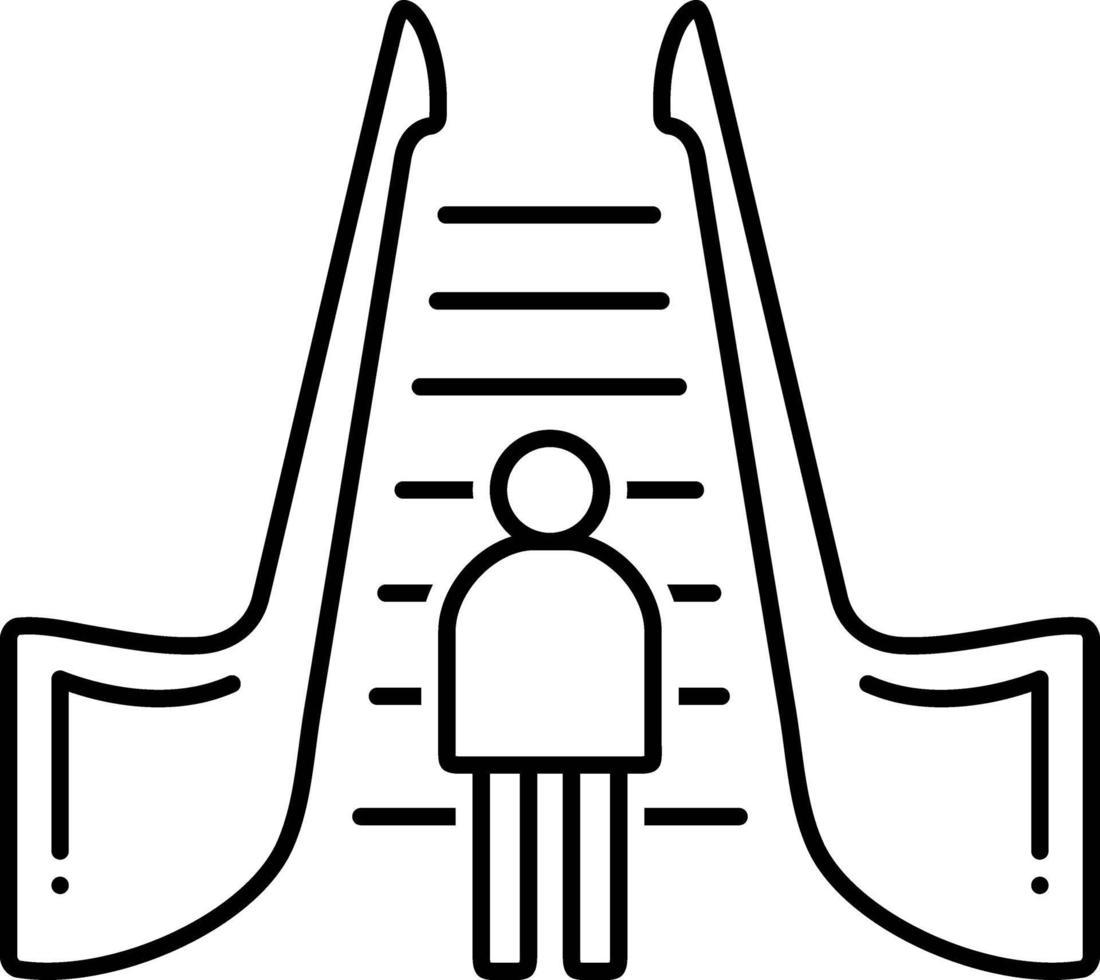 Liniensymbol für Rolltreppe vektor