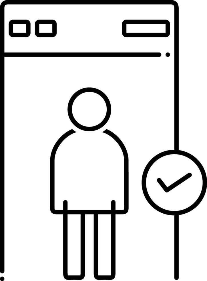 linje ikon för säkerhet vektor