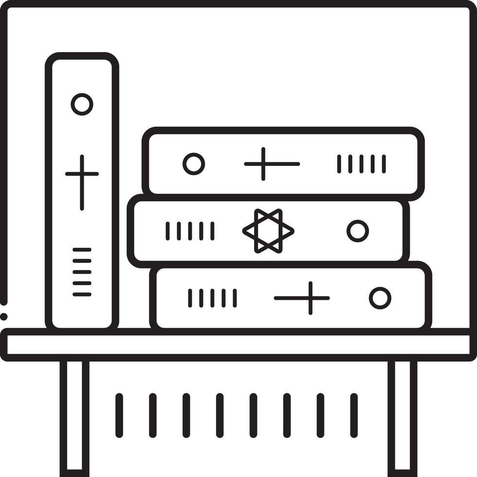 Liniensymbol für alte vektor