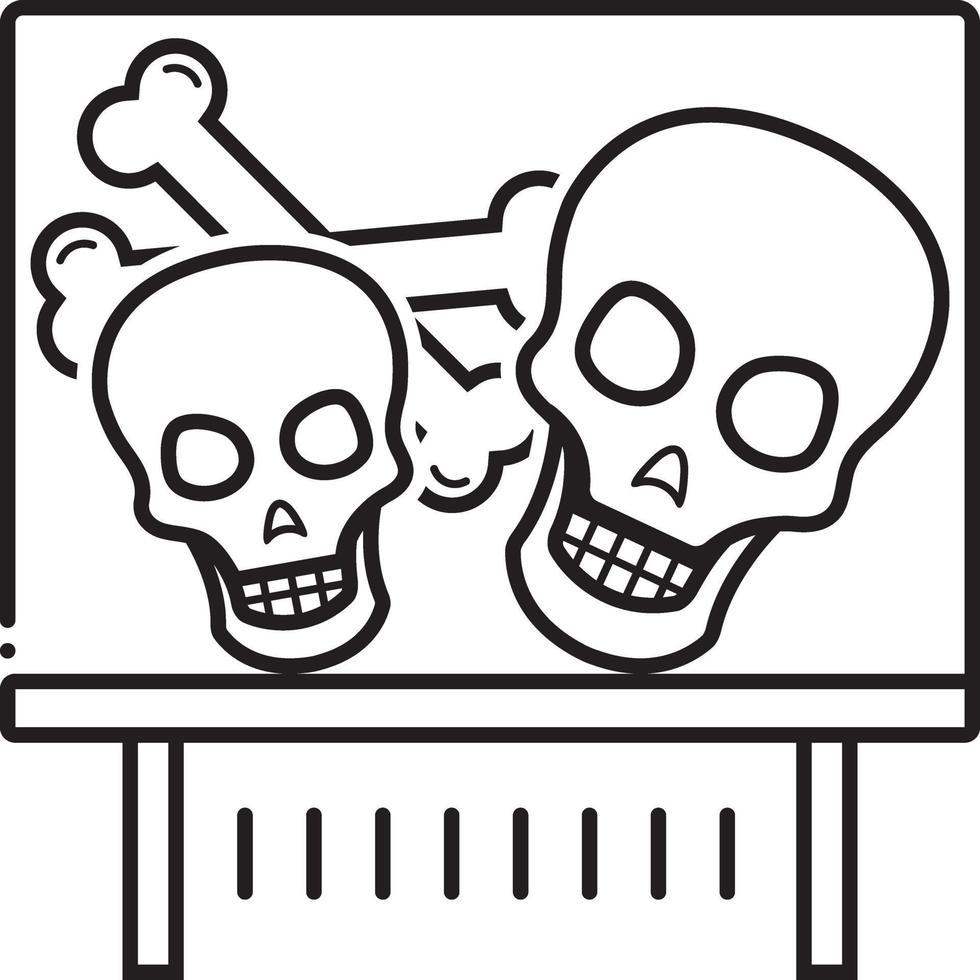 linje ikon för ben vektor