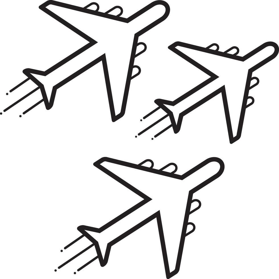 linje ikon för jet, utställning vektor