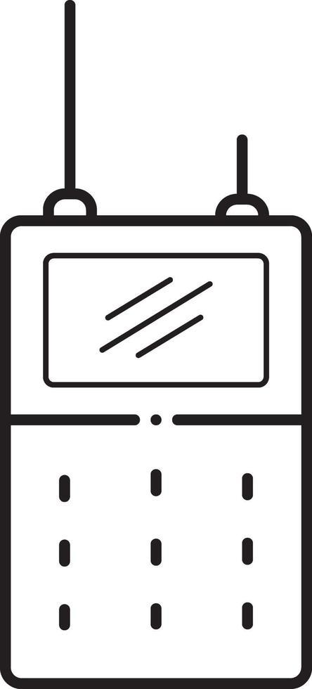 linje ikon för walkie vektor