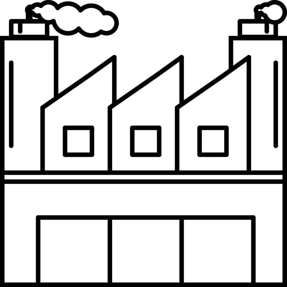 Liniensymbol für Industrie vektor