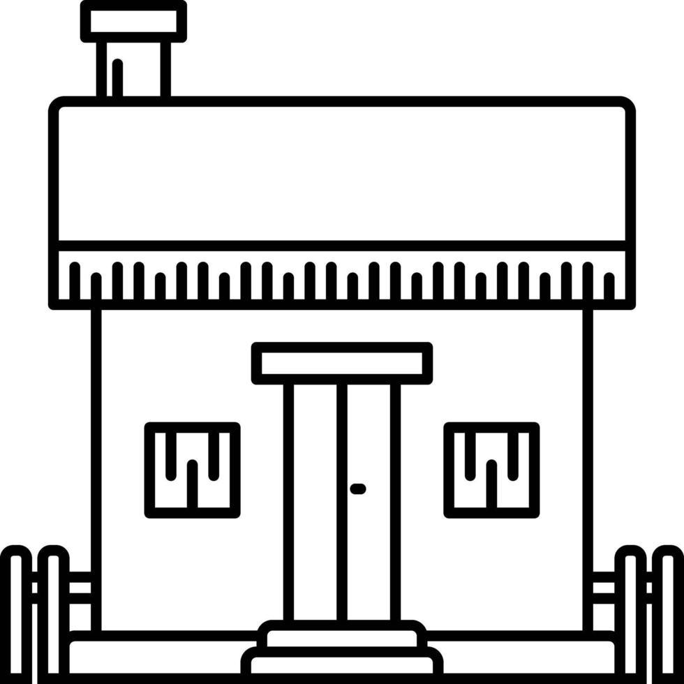 linje ikon för hem vektor