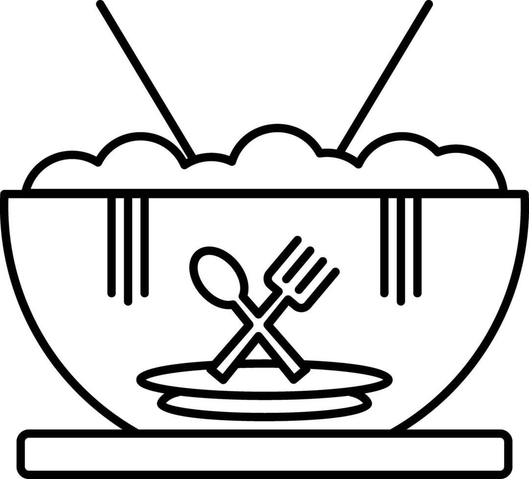 linje ikon för mat vektor
