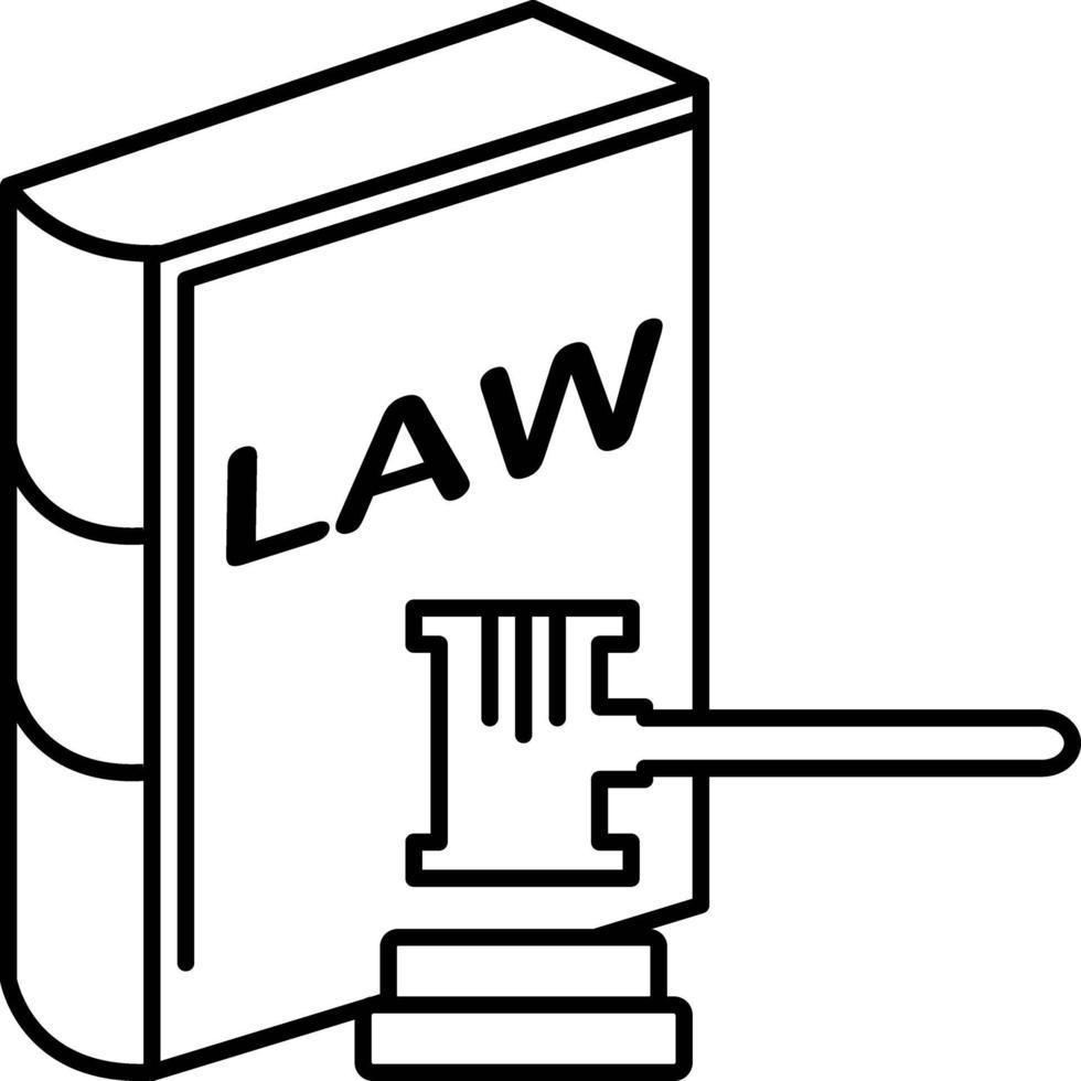 Liniensymbol für Recht und Ordnung vektor