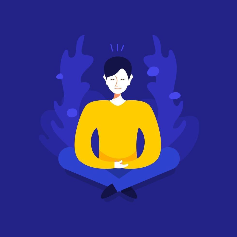 mänsklig meditation illustrationer vektor