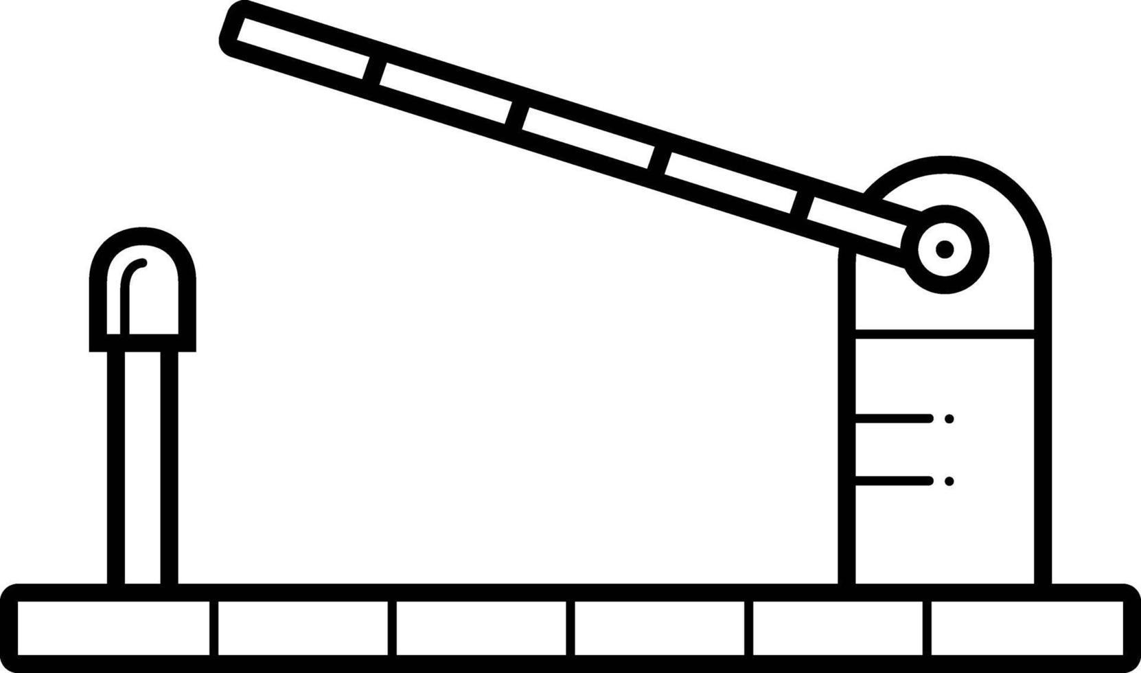 linje ikon för kontroll vektor