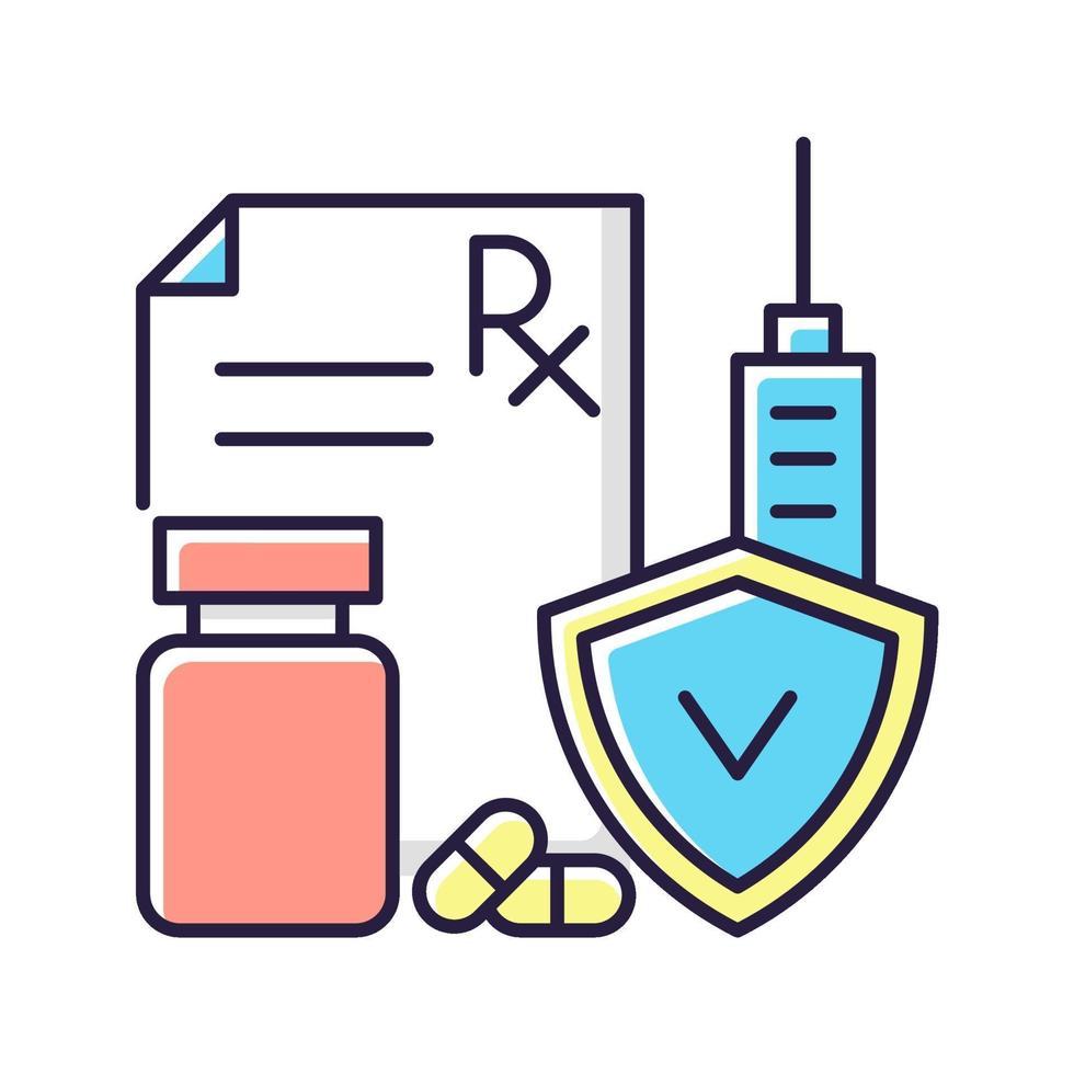 sjukförsäkring rgb färgikon vektor