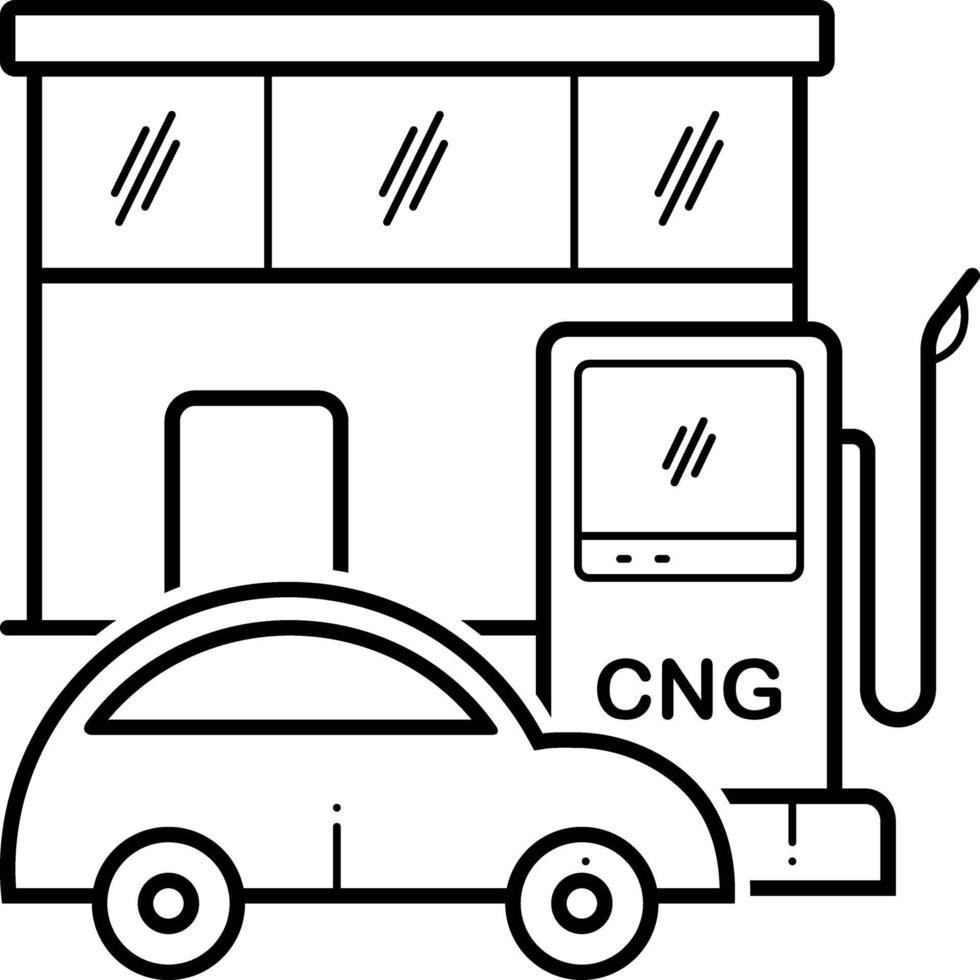 linje ikon för gas vektor
