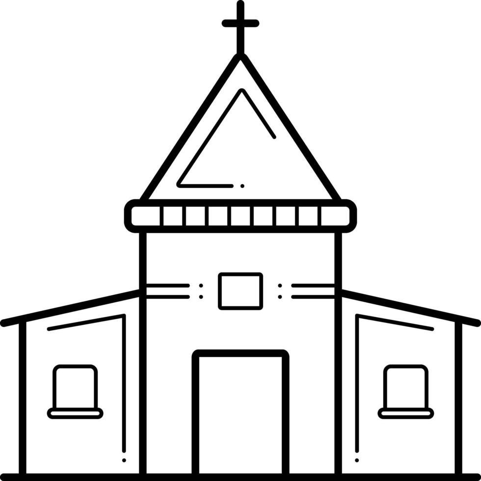 Liniensymbol für die heilige Kirche vektor