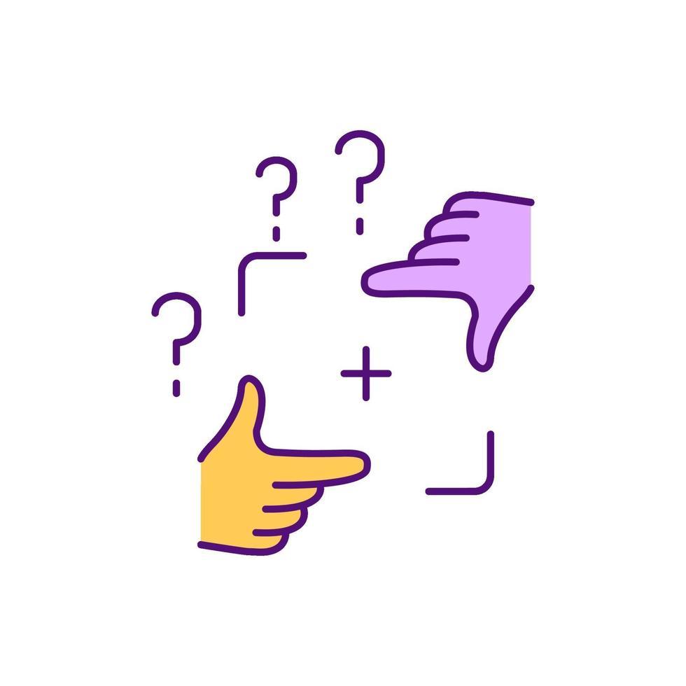 funktionell fasthet rgb färgikon vektor