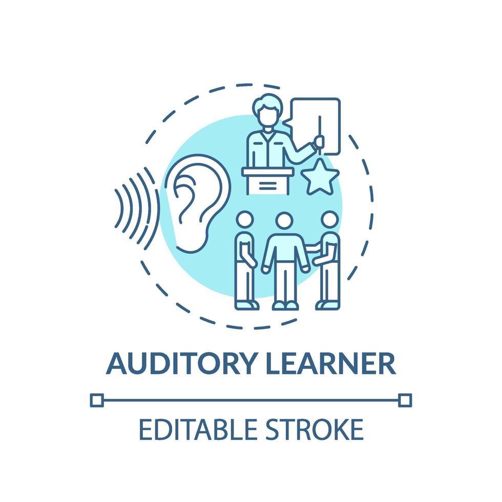 auditiv elev turkos koncept ikon vektor