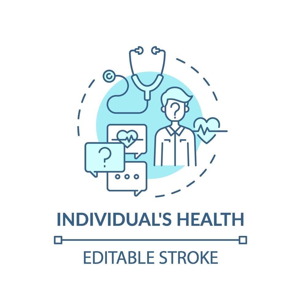 Einzelpersonen Gesundheit Türkis Konzept Symbol vektor