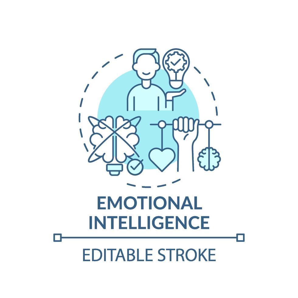 Türkis-Konzeptikone der emotionalen Intelligenz vektor