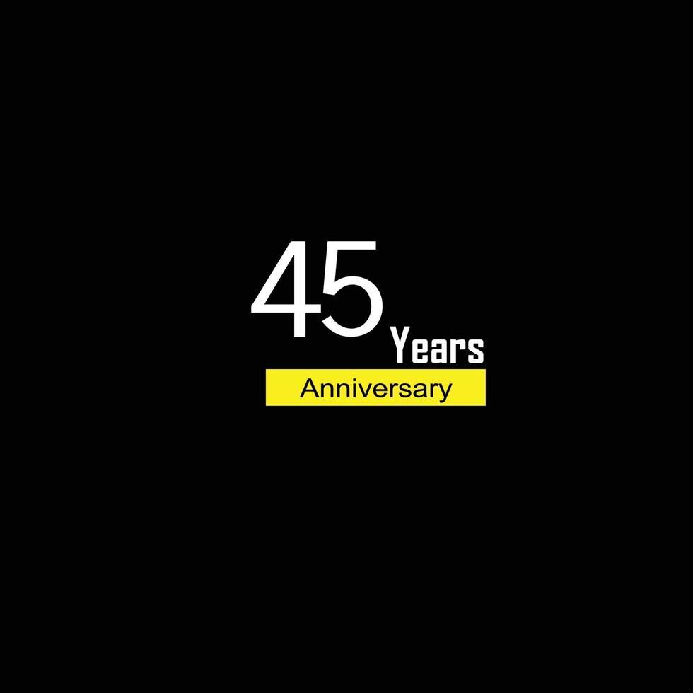 45 års illustration för design för mall för årsdagfirmasvektor vektor
