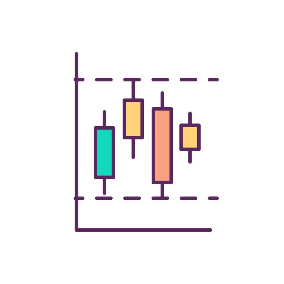 begränsa order rgb färgikon vektor