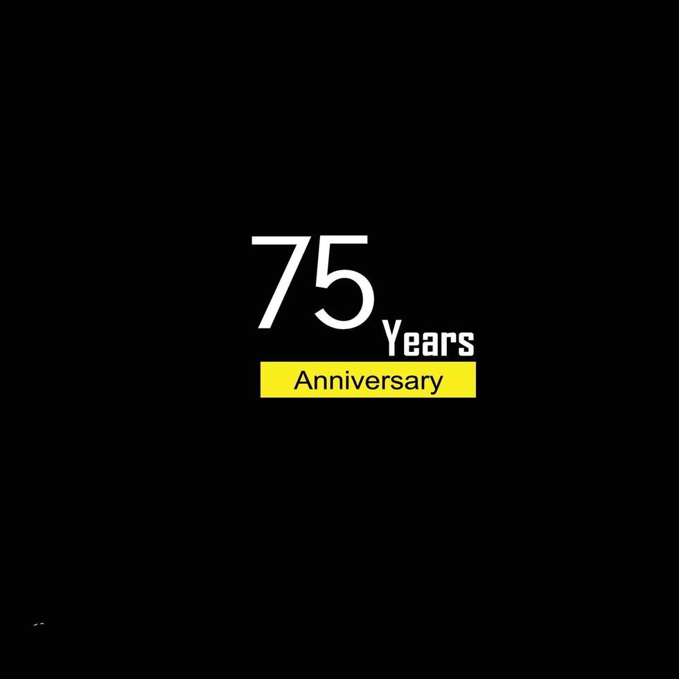 75 års jubileumsillustration för vektormalldesign vektor