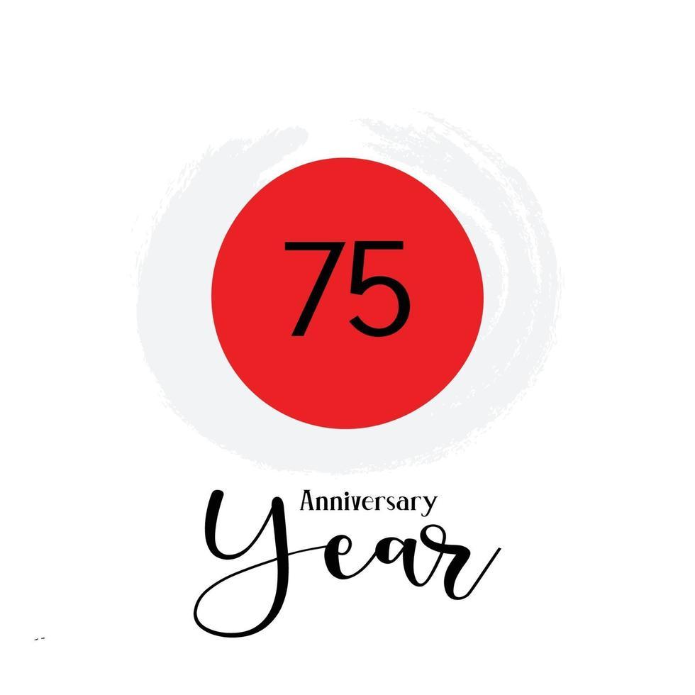 75 års jubileum firande Japan dem färg vektor mall design design