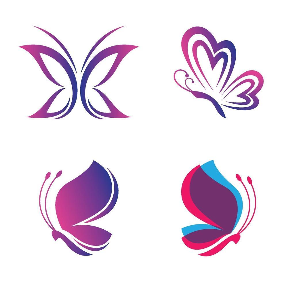 skönhet fjäril logotyp bilder vektor