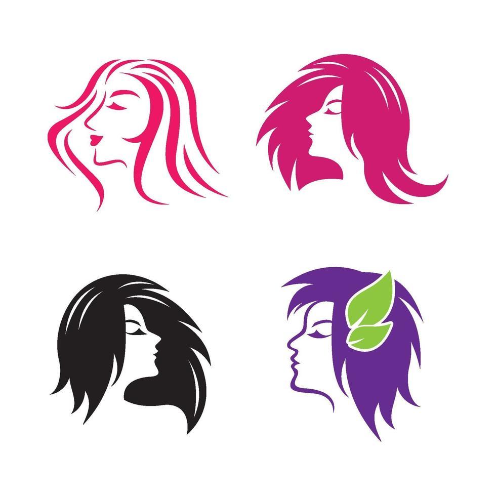 skönhet hår och salong logotyp vektor