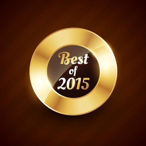 bäst av 2015 gyllene etikett märkesdesign symbol vektor