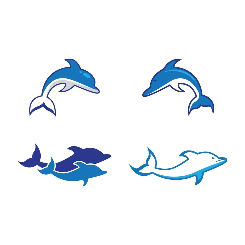 delfinlogotypbilder vektor