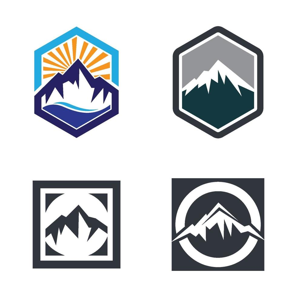 berg logotyp bilder vektor