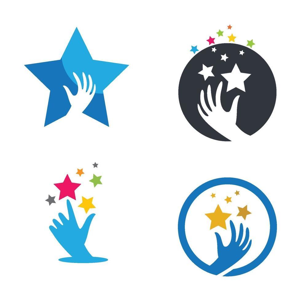 ta en stjärna logotyp bilder illustration vektor